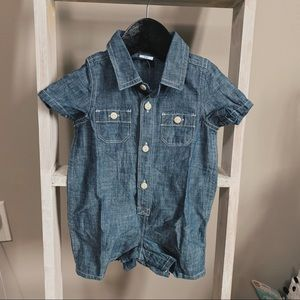 One Piece Chambray Summer Romper Baby Gap